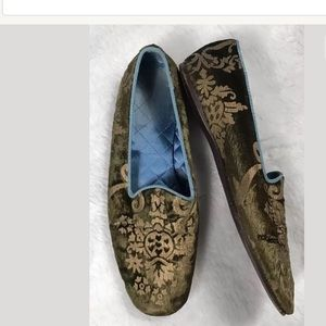 Vintage GUCCI Tom Ford Womens Green Damask Printed
